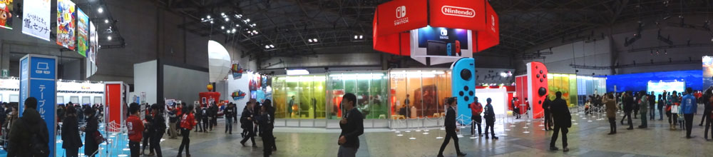 05_Nintendo Switch 体験会 2017 inビッグサイト 場内の全景