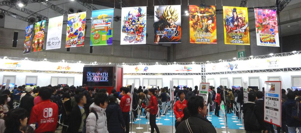 10_Nintendo Switch 体験会 2017 inビッグサイト 場内の全景