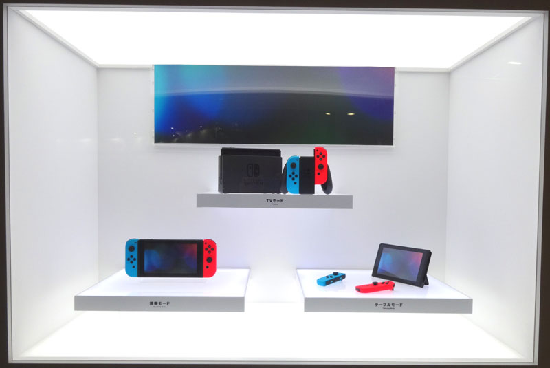 29_Nintendo Switch 体験会 2017 inビッグサイト 本体の展示