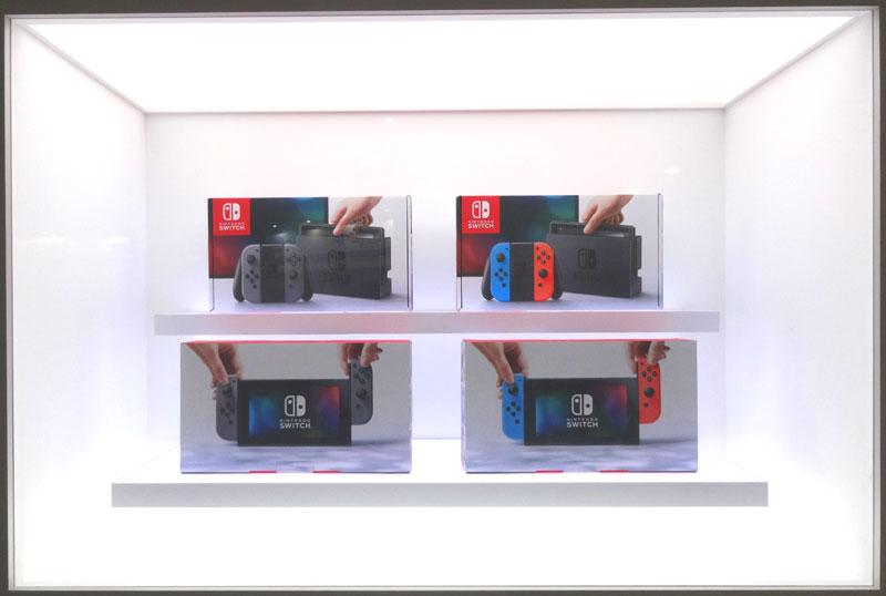 30_Nintendo Switch 体験会 2017 inビッグサイト 本体の展示