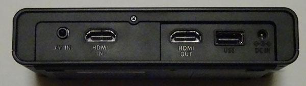 ニンテンドースイッチの動画を録画するGV-HDRECを後ろから見たところ