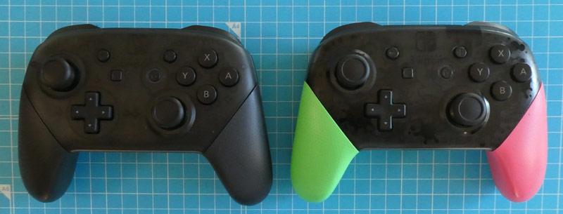 「Nintendo Switch Proコントローラー」と「スプラトゥーン2エディション」の比較画像